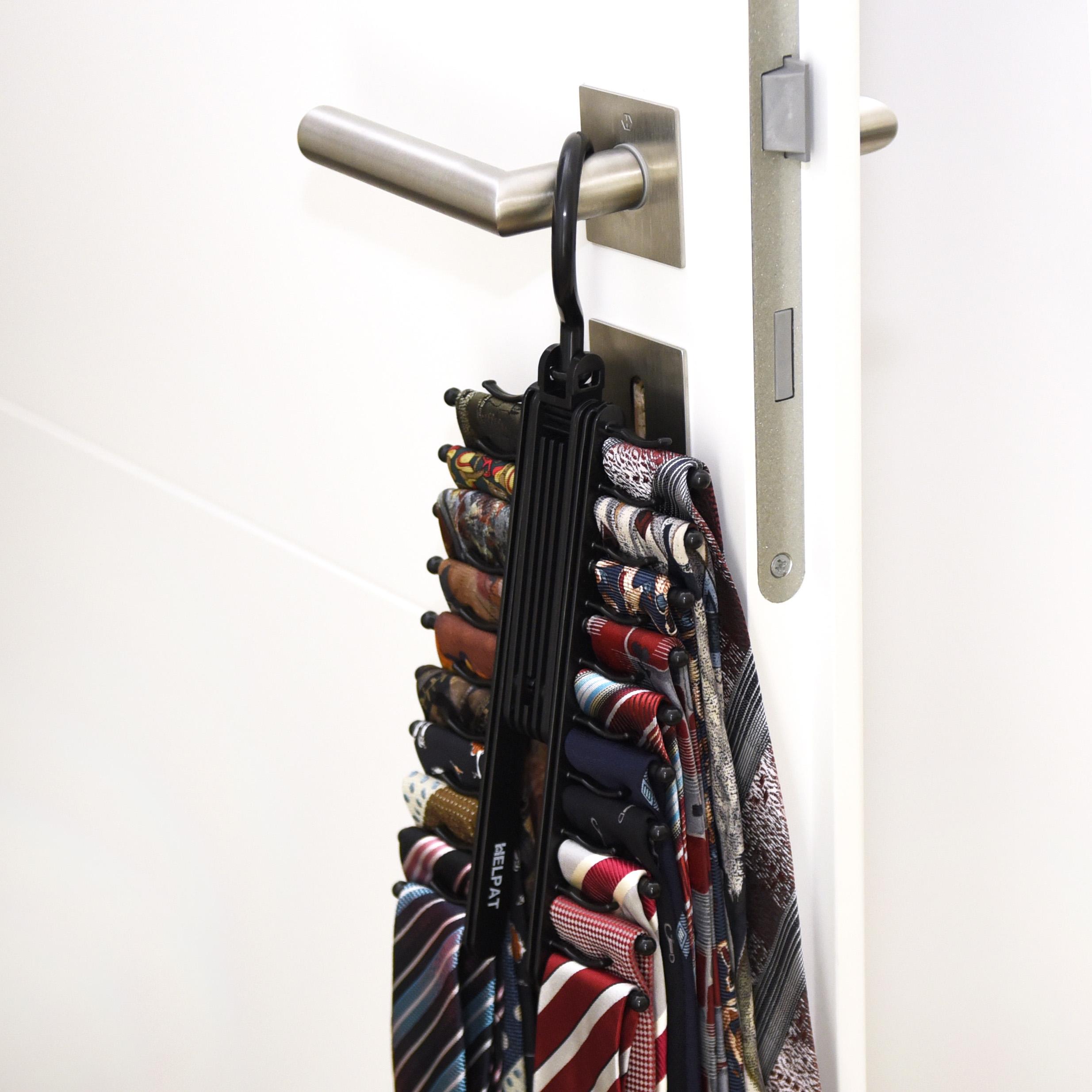 helpat premium krawattenhalter f r bis zu 20 krawatten. Black Bedroom Furniture Sets. Home Design Ideas